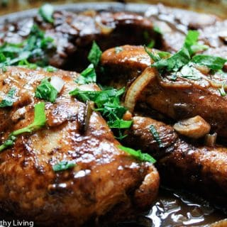 braised chicken with fig balsamic vinegar glaze