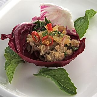 Thai Turkey Larb Lettuce Wrap Recipe