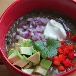 Cuban Black Bean Soup ~ https://jeanetteshealthyliving.com