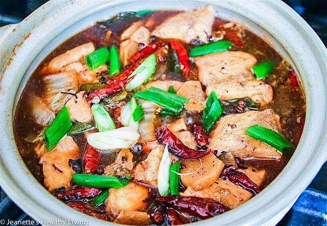 Chinese Szechuan Spicy Fish Soup gets its spicy rich flavor from hot bean sauce, dried chilies, Szechwan peppercorns, garlic and ginger.