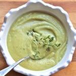 Roasted Cauliflower Chestnut Soup ~ https://jeanetteshealthyliving.com