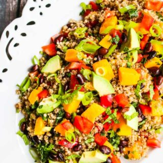 Mango Avocado Black Bean Quinoa Salad Recipe