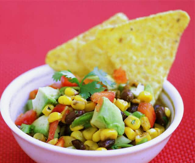 Black Bean Corn Avocado Salsa