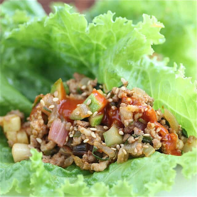 Summer Vegetable Korean Lettuce Wraps Recipe