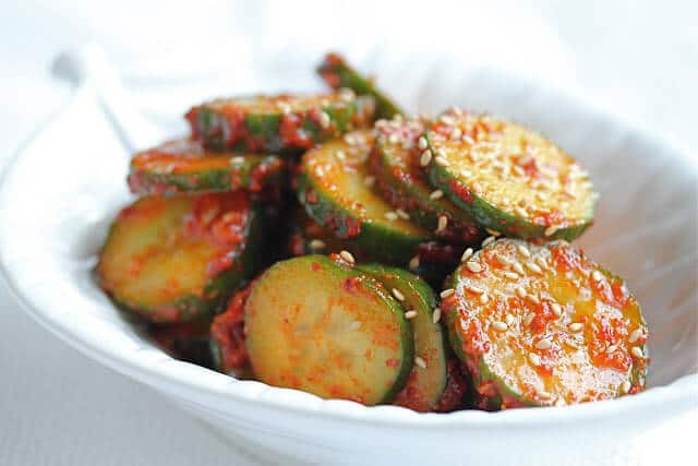 Korean Spicy Cucumber Salad Banchan