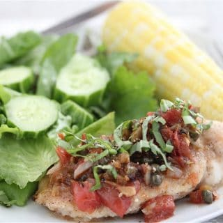 Chicken Breast with Capers and Tomatoes