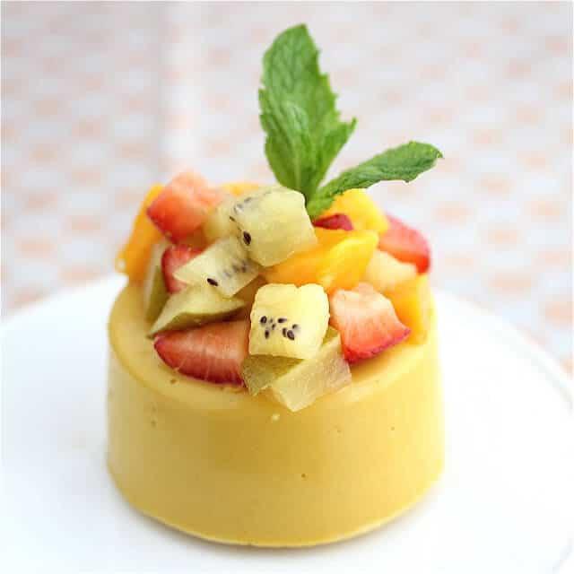 Vegan Mango Panna Cotta