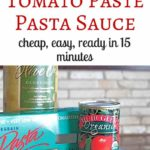 Easy Tomato Paste Pasta Sauce - just 4 ingredients and 15 minutes to make this delicious pasta for dinner