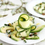 Zucchini Carpaccio Avocado Salad with Pistachios - an elegant and light salad that will impress your guests