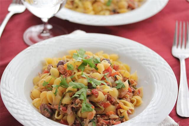 Tuna Marinara Sauce with Pasta