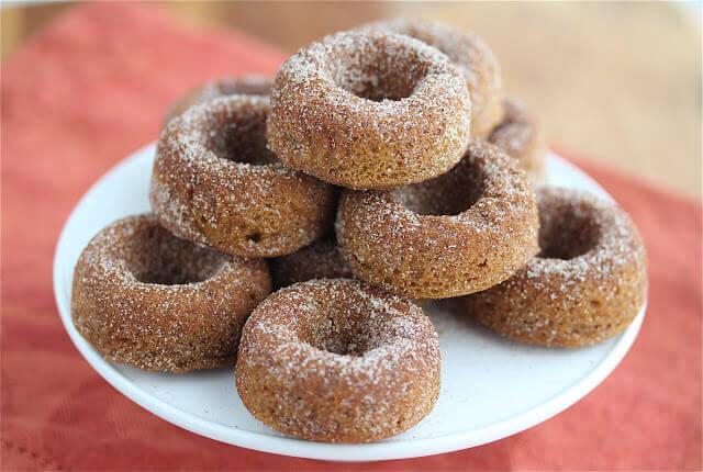 Gluten-Free Vegan Baked Pumpkin Spice Donuts