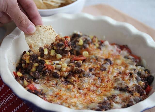 Hot Black Bean Salsa Dip