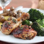 Caramelized Baked Chicken with Green Olives and Prunes