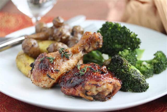 Easy Caramelized Baked Chicken with Green Olives and Prunes Recipe