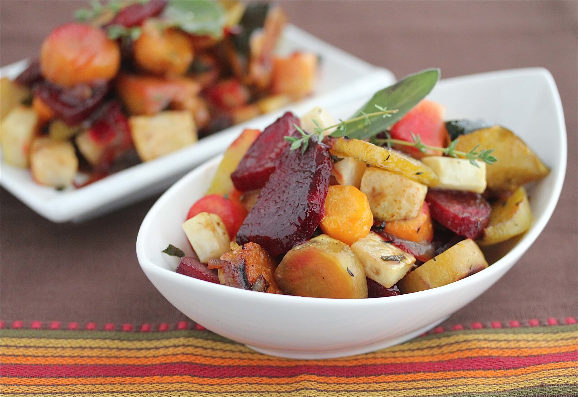 Oven Roasted Vegetables with Sage and Thyme Recipe