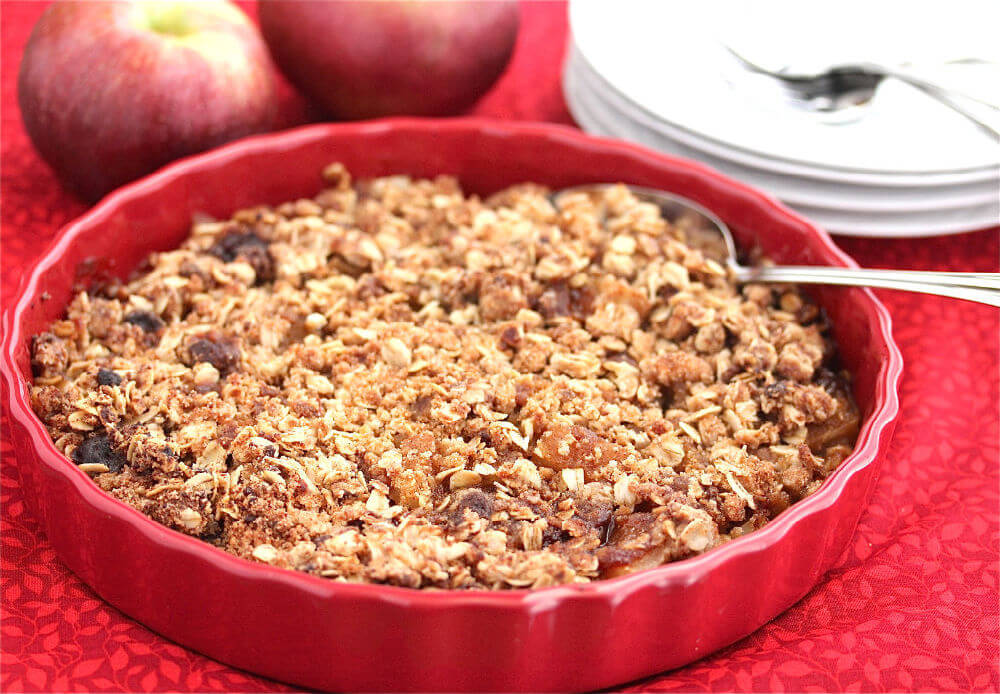 Gluten-Free Apple Oatmeal Crisp