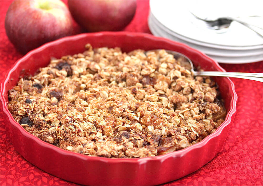 Gluten-Free Apple Oatmeal Crisp Recipe