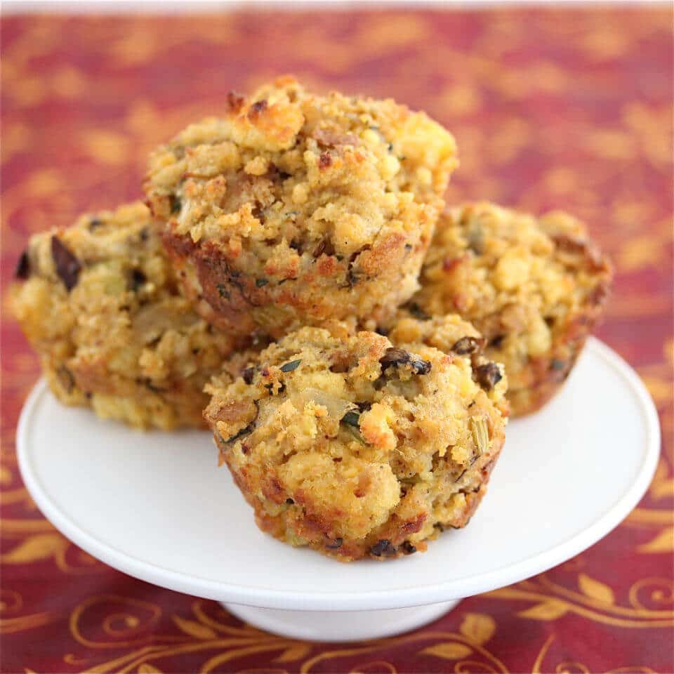 Mushroom Cornbread Stuffing Muffins Recipe