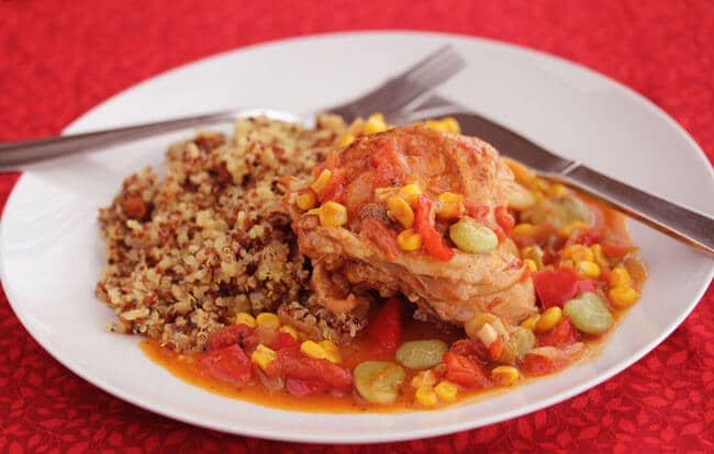 Brunswick Chicken Stew served with Quinoa Pilaf