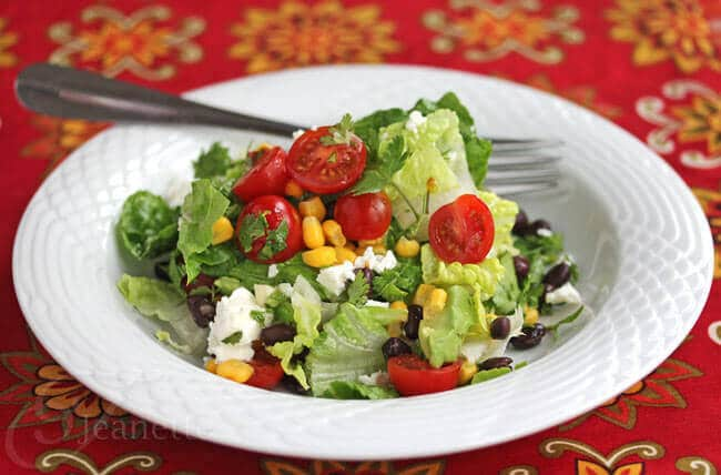 Mexican Chopped Salad with Honey-Lime Dressing
