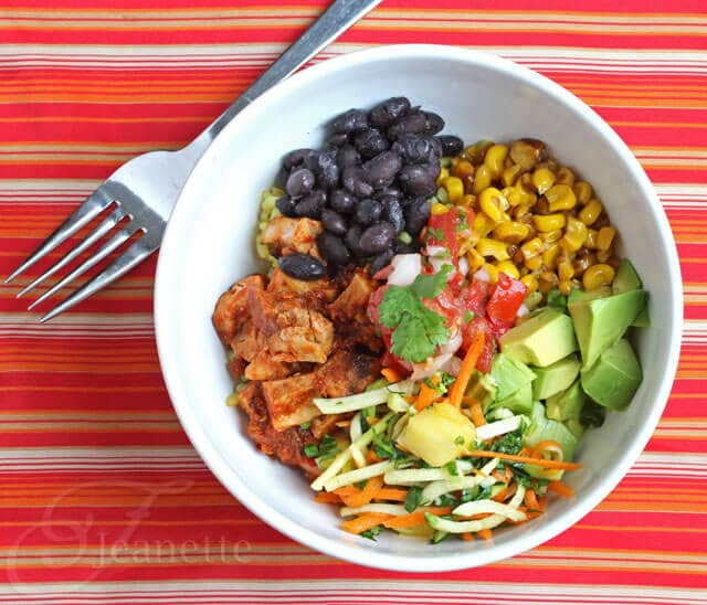Cha Cha Bowl (Recipe for Mexican Chicken and Black Bean Rice Bowl)