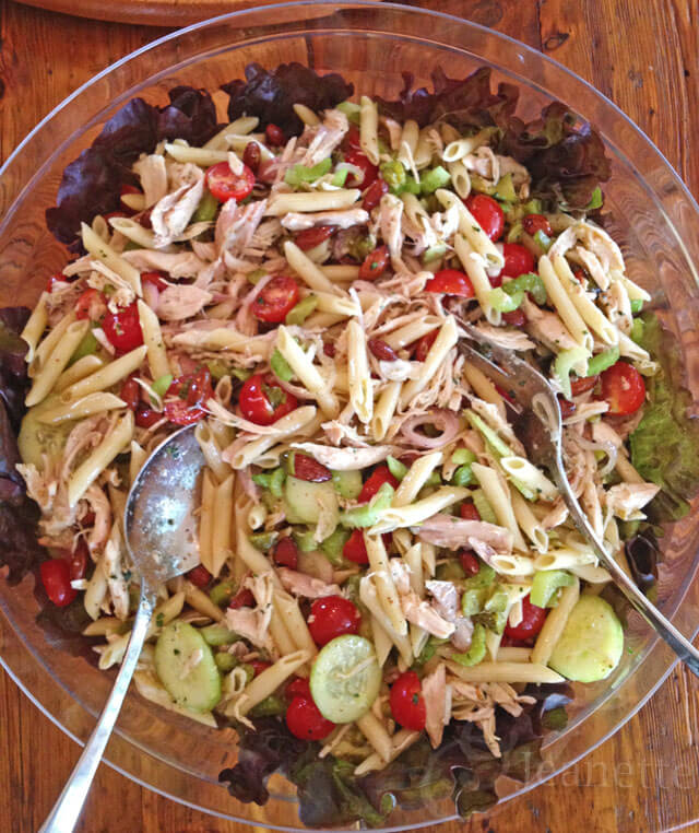 Chicken Pasta Salad with Mustard Vinaigrette