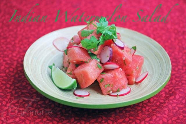 Indian Watermelon Salad