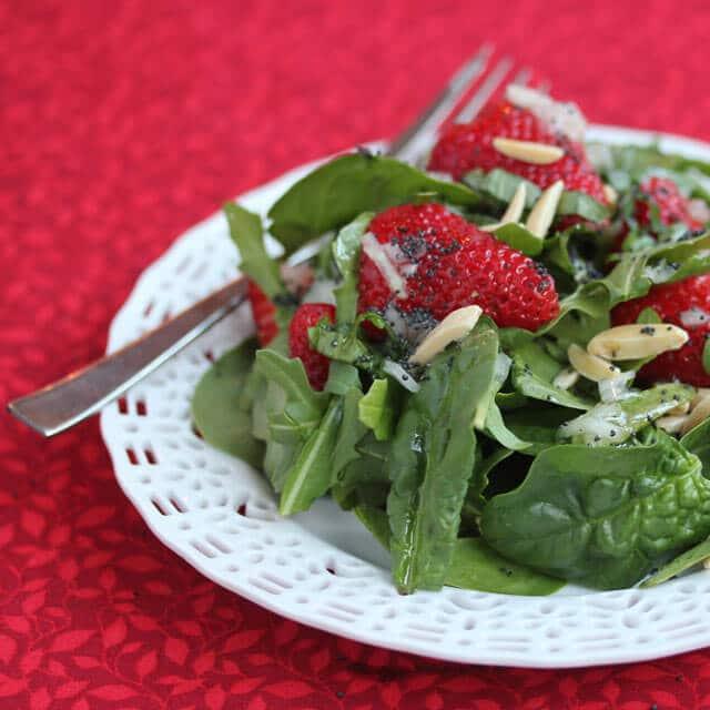 strawberryspinachsaladsquare
