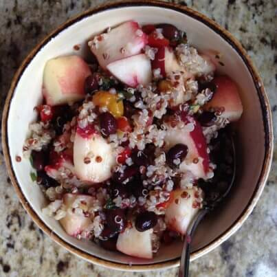 Quinoa Salad with White Peaches