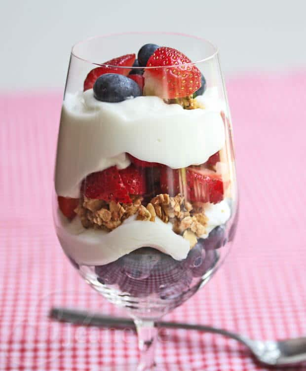 4th of July Yogurt Berry Parfait
