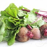 Fresh Beet Greens and Beetroots