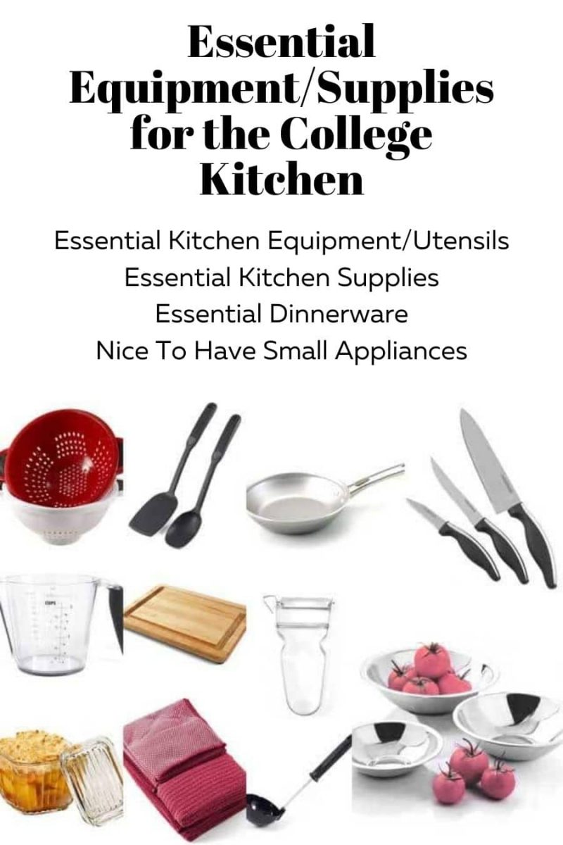 Essential Equipment and Supplies for College Kitchen