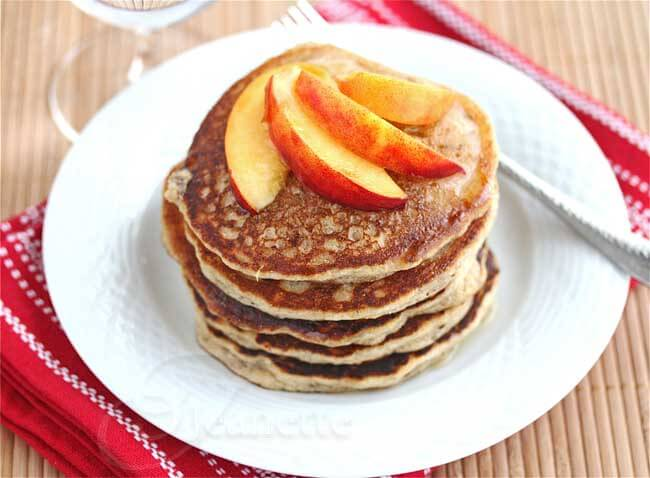 Gluten-Free Pancakes with Peaches