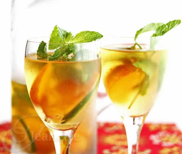 Peach Mint Citrus Ice Tea