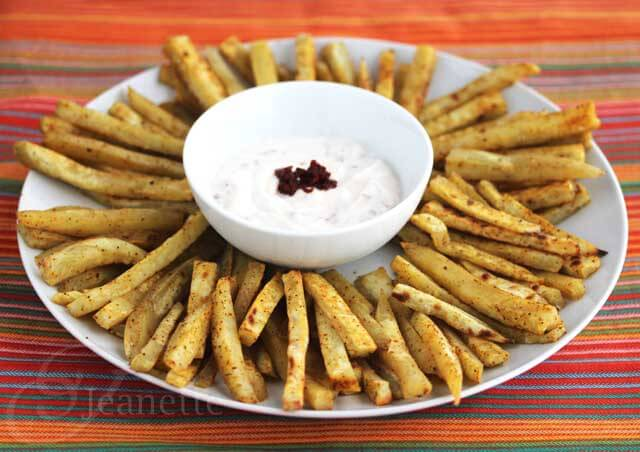Chili Spiced Sweet Potato Fries and Chipotle Yogurt Dip Recipe