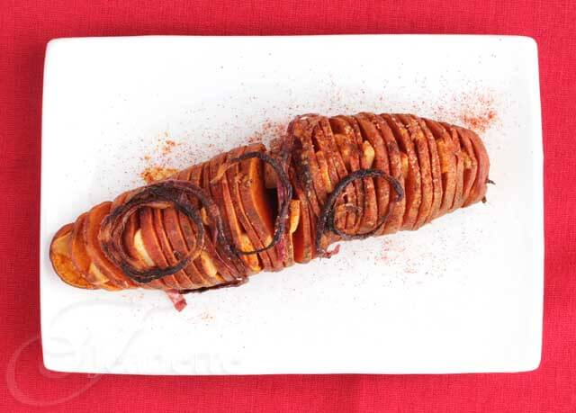 Hasselback Sweet Potato