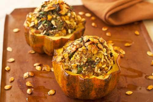 Stuffed Acorn Squash with Quinoa and Persimmons