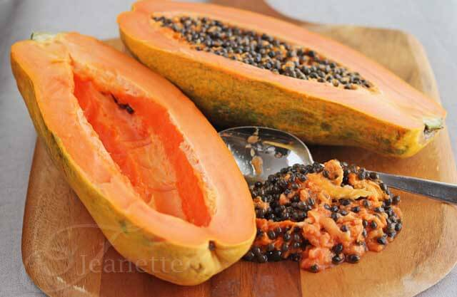 How To Cut Papaya Chunks Jeanette S Healthy Living