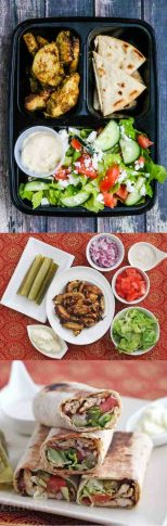 Shawarma chicken meal prep - delicious, healthy - just double the recipe for shawarma chicken and serve with a simple cucumber tomato salad