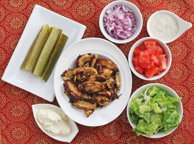 Shawarma Chicken with Toppings