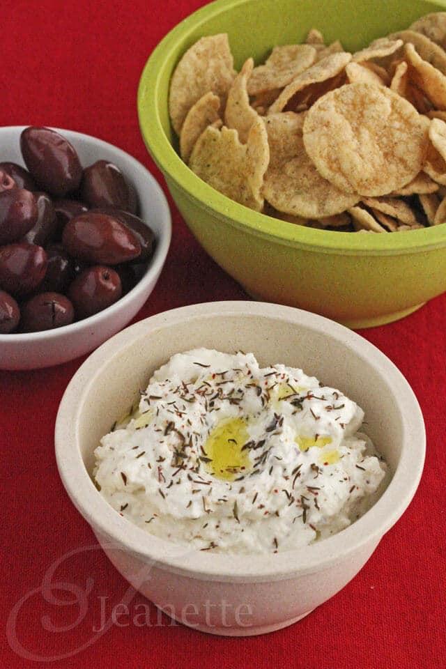 Feta Yogurt Dip with Za'atar - tangy, deliciously healthy dip