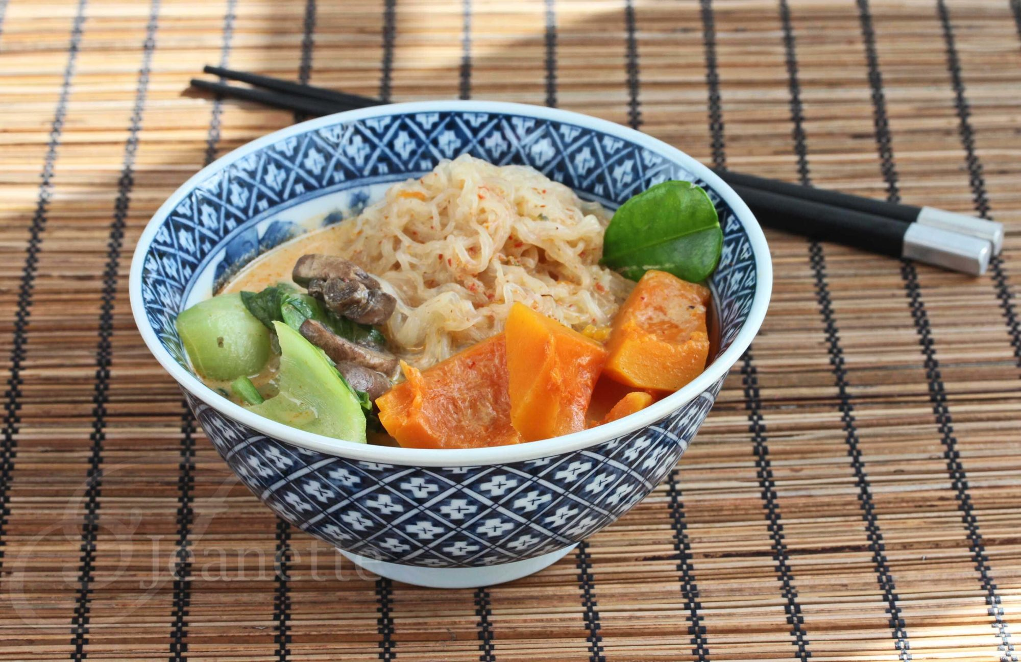 Spicy Thai Coconut Winter Squash Noodle Soup Recipe (Fall Fest)