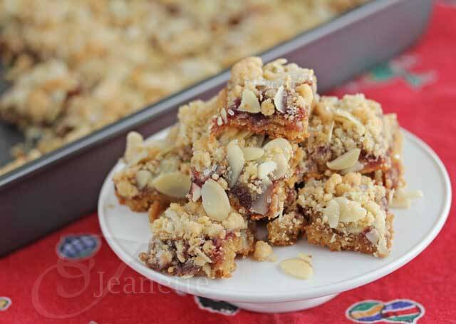Gluten Free Raspberry Almond Bars © Jeanette's Healthy Living