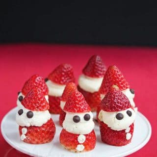 Strawberry Whipped Cream Santas - super cute and easy dessert that kids and adults will love