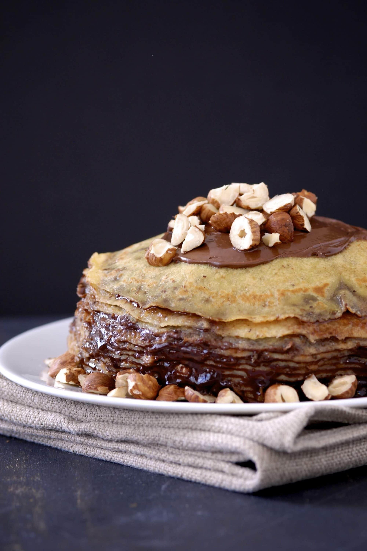 Nutella crepe cake by kumquat