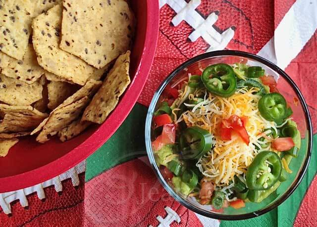 9 Layer Mexican Dip © Jeanette's Healthy Living
