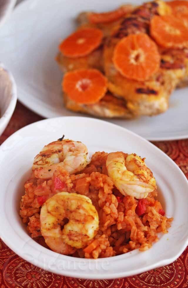 Jollof Rice with Shrimp © Jeanette's Healthy Living