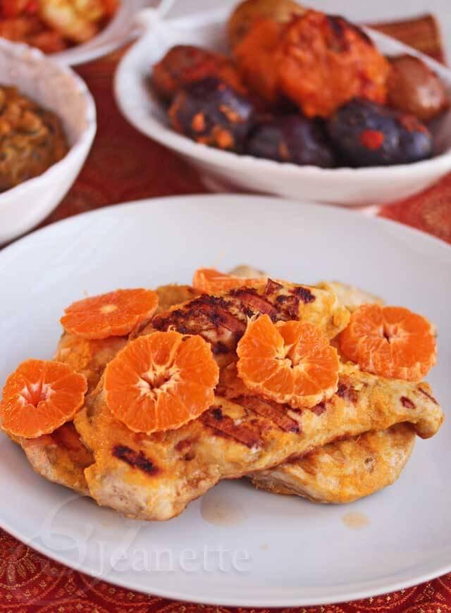 Ghanaian Tangerine Ginger Chicken © Jeanette's Healthy Living