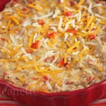 Skinny Hot Philly Cheesesteak Dip © Jeanette's Healthy Living