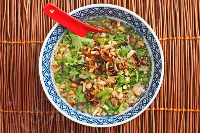 Vietnamese Brown Rice Chicken Porridge © Jeanette's Healthy Living